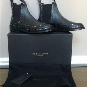 Rag & Bone Benson Black Studde Boots